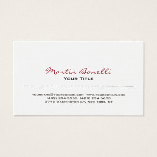 Linen Modern Trendy Business Card