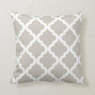 Linen Moroccan Quatrefoil Print Pillow