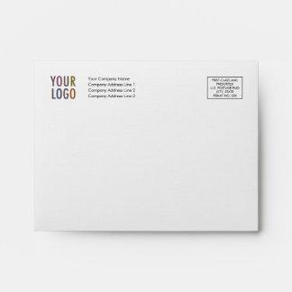Linen Note Card Envelope A2 Logo Address Indicia
