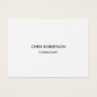 Linen Paper Chubby Chic Modern Business Card