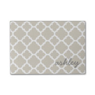 Linen Quatrefoil Pattern with Personalized Name Post-it® Notes