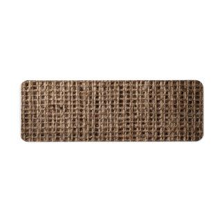 Linen Sack Background, Vintage Style 2 Labels