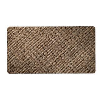 Linen Sack Background, Vintage Style Custom Shipping Label