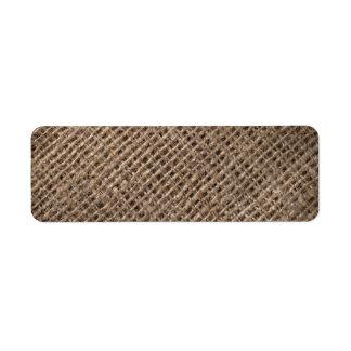 Linen Sack Background, Vintage Style Custom Return Address Labels
