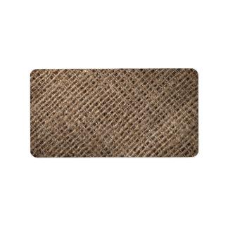 Linen Sack Background, Vintage Style Personalized Address Labels