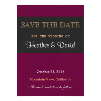 Linen Save the Date Wedding Love Invitation