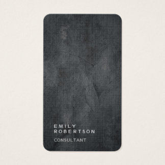 Linen Simple Plain Gray Trendy Modern Minimalist Business Card