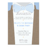 "Linen Suit and Seersucker Bow Tie Party Invitation 5.5"" X 7.5"" Invitation Card"