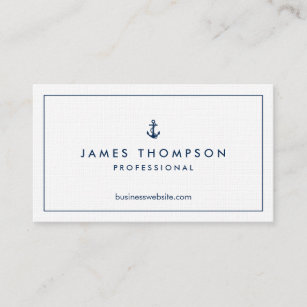 Textured business cards zazzle linen texture anchor logo professional classic business card colourmoves