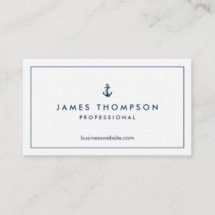 Classic business cards zazzle linen texture anchor logo professional classic business card colourmoves