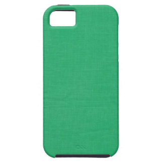 Linen Texture Fabric Background // Kelly Green iPhone 5 Cover