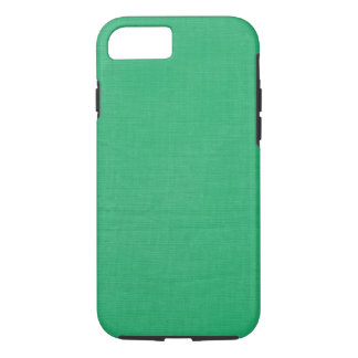 Linen Texture Fabric Background // Kelly Green iPhone 7 Case