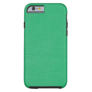 Linen Texture Fabric Background // Kelly Green Tough iPhone 6 Case