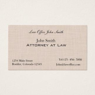 Linen texture pattern business card