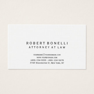 Linen Unique Attorney at Law Simple Business Card