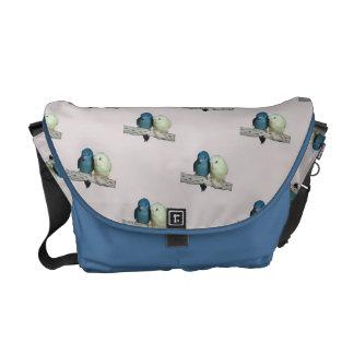 Lineolated Parakeet Rickshaw Messenger Bag