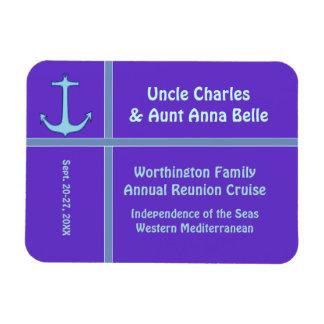 Liner Anchor Purple Cabin Door Marker Magnet