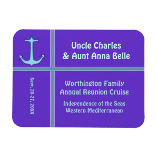 Liner Anchor Purple Cabin Door Marker Rectangular Photo Magnet
