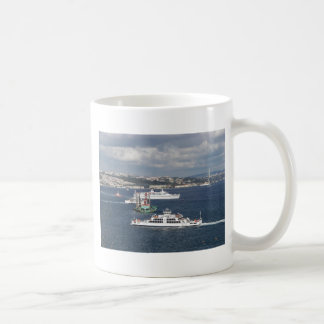 Liner and Ferry In The Bosphorus Coffee Mug
