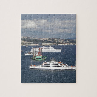 Liner and Ferry In The Bosphorus Jigsaw Puzzle
