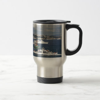 Liner and Ferry In The Bosphorus Travel Mug