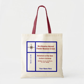 Liner Compass Group Cruise Red and Blue Tote Bag