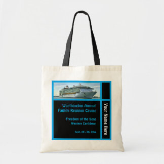 Liner Cruise Ship Black Background Custom Tote Bag