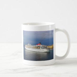 Liner leaving Malta. Coffee Mug