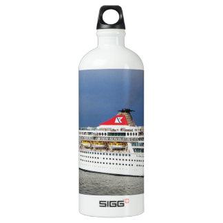 Liner leaving Malta. Water Bottle