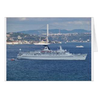 Liner Ocean Monarch on the Bosphorus. Card