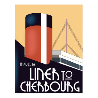 Liner to Cherbourg Postcard