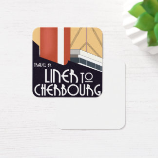 Liner to Cherbourg Square Business Card