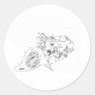 LineRider Classic Round Sticker