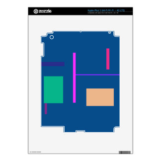 Lines 2 Air Force Blue iPad 3 Decals