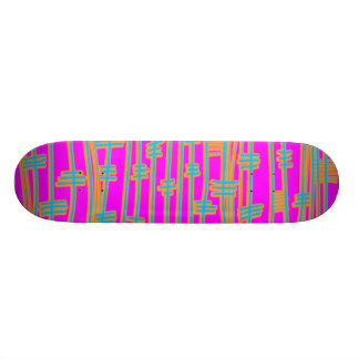 Lines Abstract - Retro Skateboard Deck