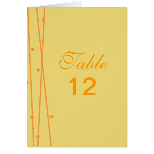 Lines and Dots Table Number