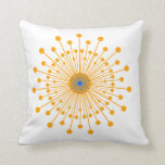 Lines and dots throw pillow