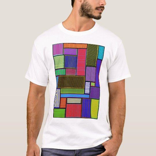 Lines and Rectangles Colorful Shirt