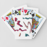 Lines and ribbons graphics design poker cards