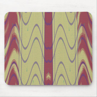 Lines and Waves on Khaki Mouse Pad