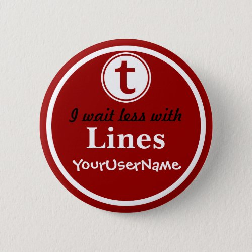 Lines Button _ Design 1 Red