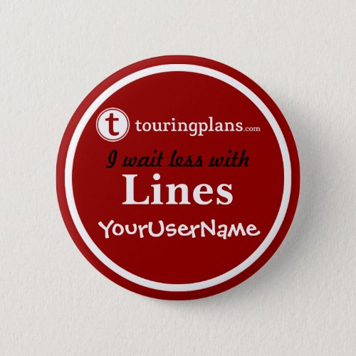 Lines Button _ Design 2 Red