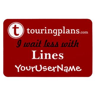 Lines Car & Resort Door Magnet (Red)