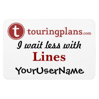 Lines Car & Resort Door Magnet (White)