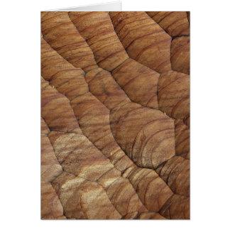 Lines carved in pale brown wood greeting cards