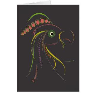 Lines Color Bird Dark Cards