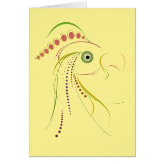 Lines Color Bird Light Greeting Card