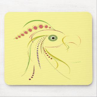 Lines Color Bird Light Mousepad