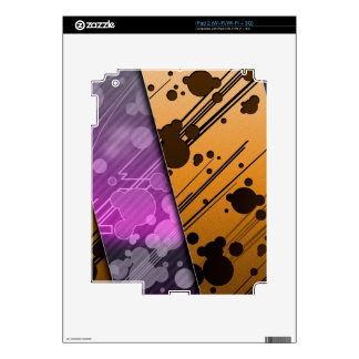 Lines Color Stripes Patterns Orange and Purple iPad 2 Decal