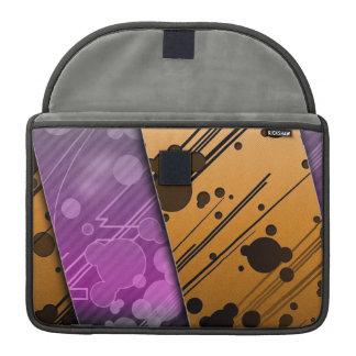 Lines Color Stripes Patterns Orange and Purple MacBook Pro Sleeves